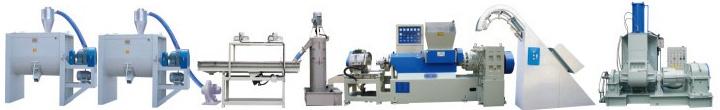 橡塑㬵 EVA/PVC/TPR 高速造粒设备 Rubber,PVC/TPR/EVA high speed granulation(water cooling)