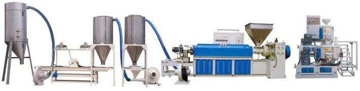 PVC 塑㬵造粒设备 PVC plastic granulator equipment(air cooking)